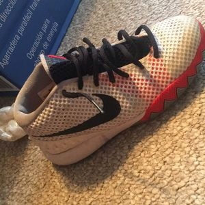 Nike Shoes - Nike Kyrie 1 GS White Black Orange f1af8f16ff
